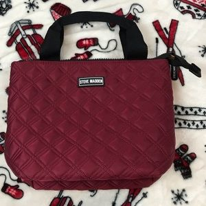 Steven Madden Maroon Lunch Tote / Bag